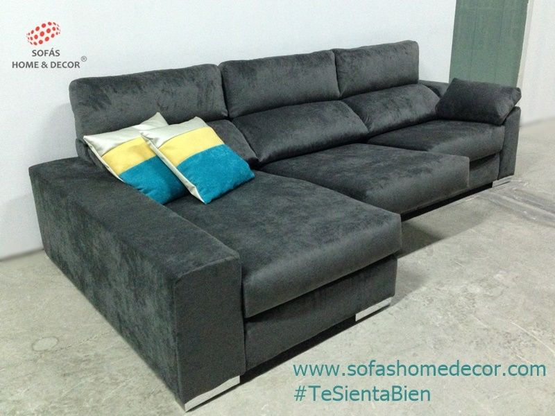 Sof 2 plazas chaise longue kombo sof s de sof s home decor for Sofa 2 plazas polipiel