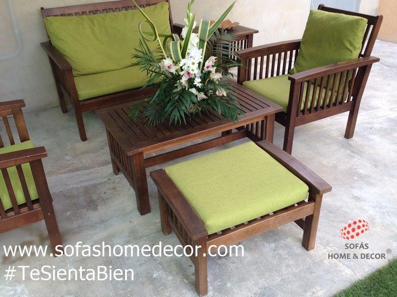 Muebles jardin palets gallery of palets jardn with - Cojines para muebles de jardin ...
