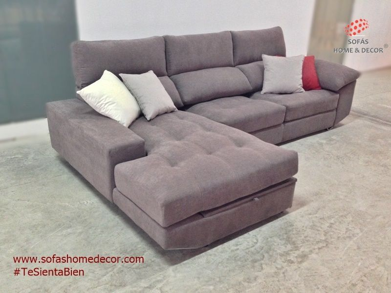 Sof 3 plazas chaise longue soft sof s de sof s home decor for Catalogos de sofas chaise longue