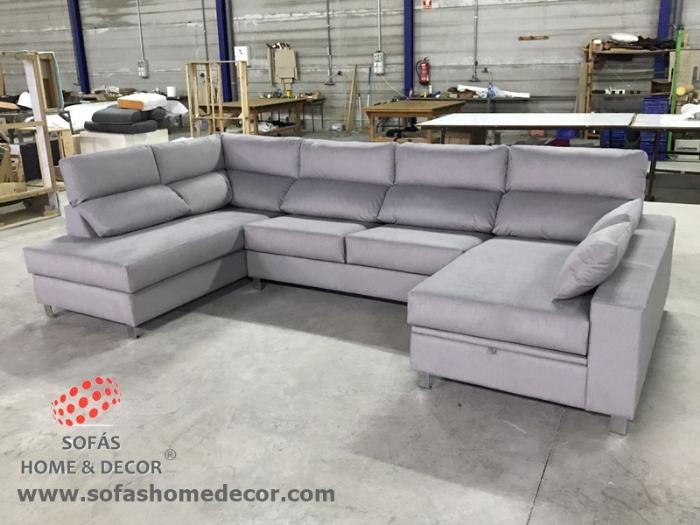 Sofa forma u idea de la imagen de inicio for Sillon cama valencia