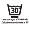 A máquina hasta 30º - Lavar del revés / Wash inside out