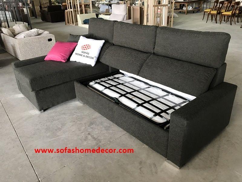 Sof cama cheslong colchon 120 line for Medidas sofa cheslong