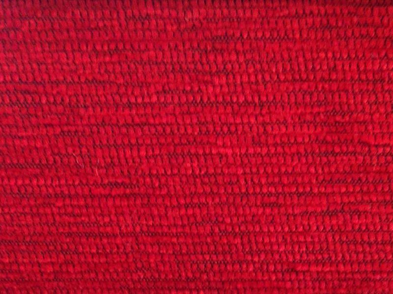 Comprar telas en valencia chenilla basic rojo for Sofas al mejor precio