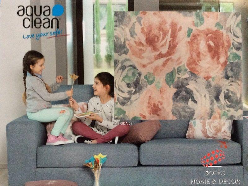 Rustika merida aquaclean flores for Sofas tela rustika