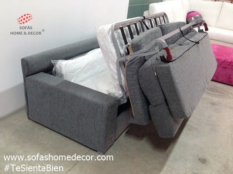 Sof cama italiano colch n visco lluna sof cama sof s for Sofa cama desmontable