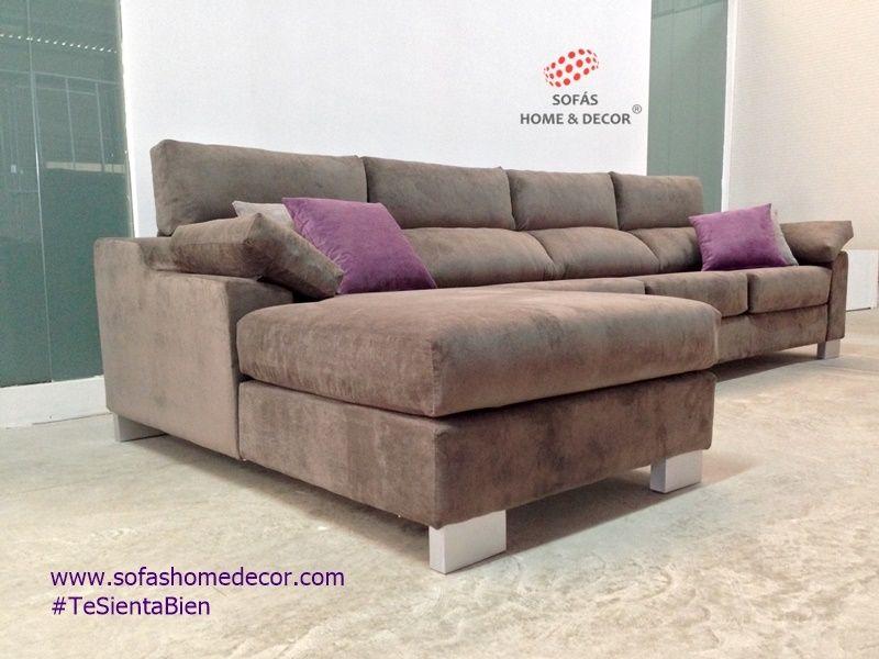 Sof 3 asientos chaise longue camel sof s de sof s home decor for Sofas y punto