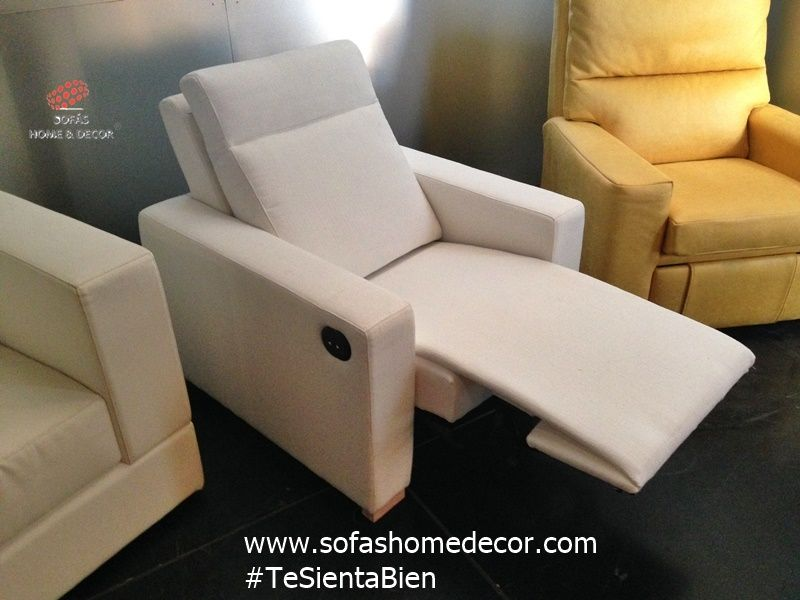 Sof relax 2 plazas chaise longue noa sof s home decor - Sofas y sillones relax ...