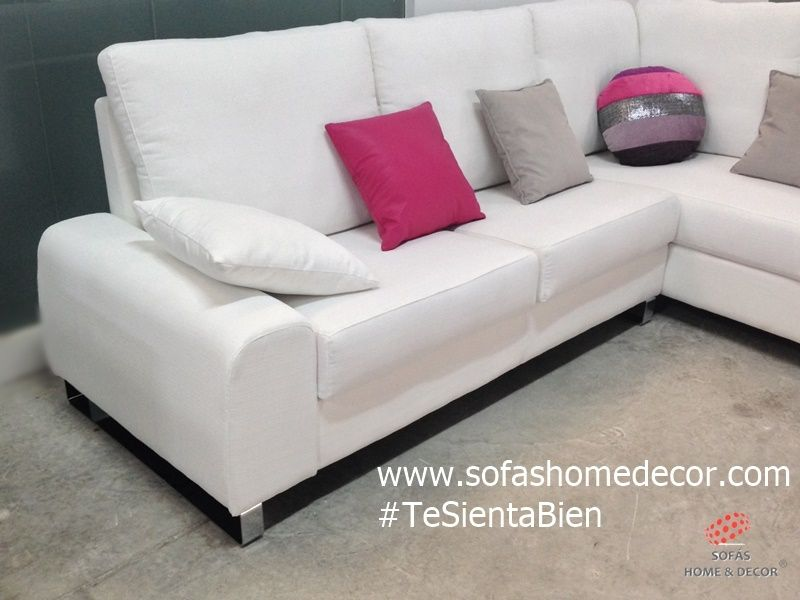 sofá 3 plazas chaise longue a medida modelo MAGIC, de Sofás Home Decor