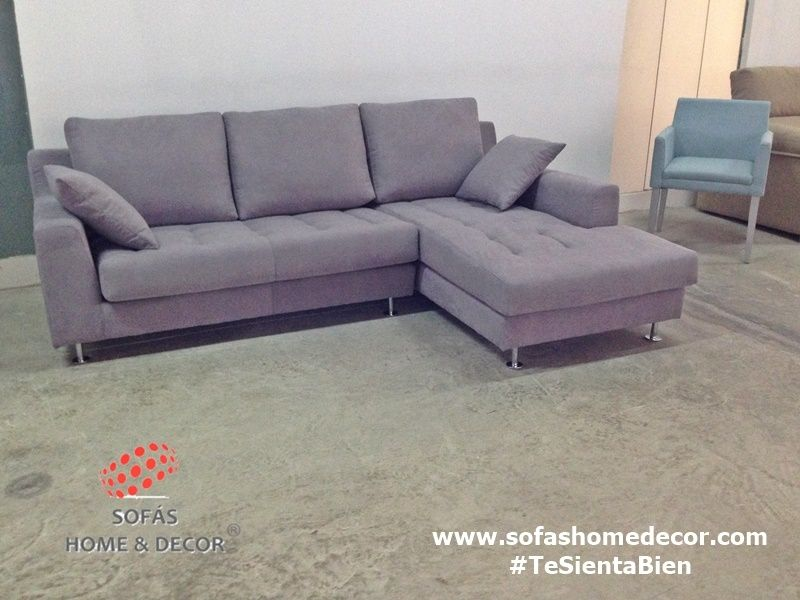 Sofa 3 plazas chaise longue chic sof s de sof s home decor for Sofas 3 plazas mas cheslong