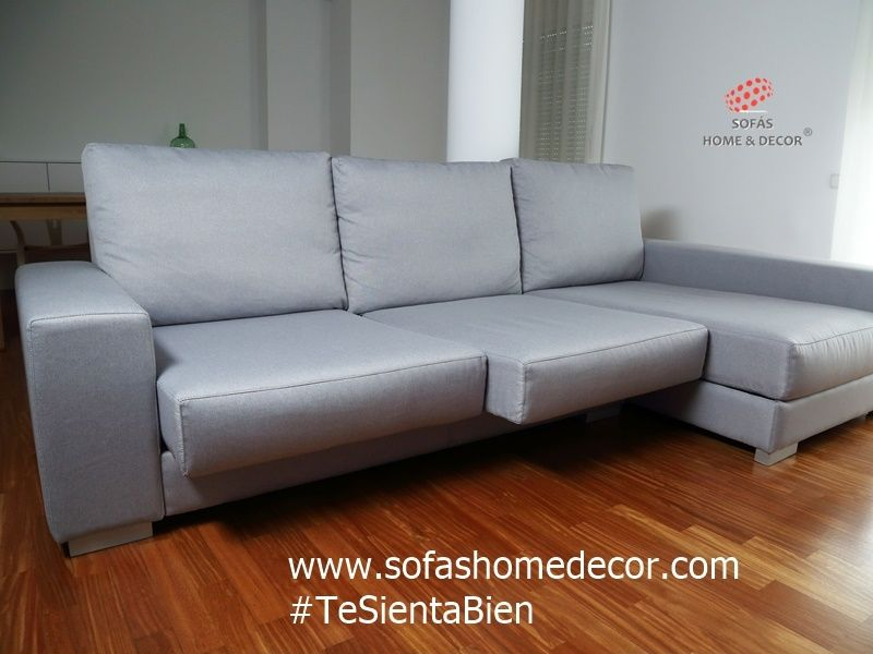 Sof 3 plazas chaise longue c mic sof s de sof s home decor for Sofas 3 plazas mas cheslong