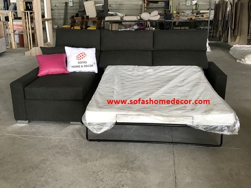 Sofa cama 120 cheslong colch n viscoelastica line sof s for Sofa cama cheslong